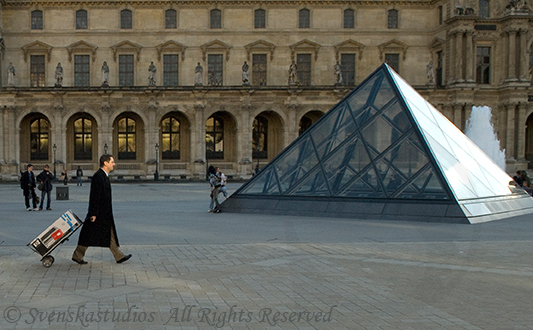 Crossing the Louvre